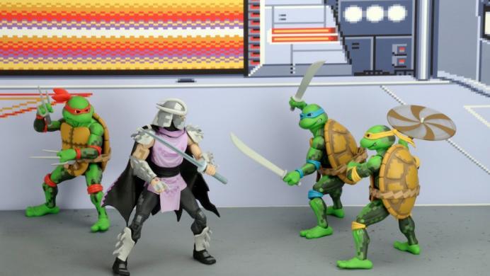 Así son las figuras de acción de las Tortugas Ninja basadas en el arcade de 1989