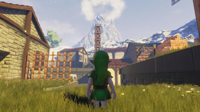 Así luce Kakariko Village de Ocarina of Time con el Unreal Engine 4