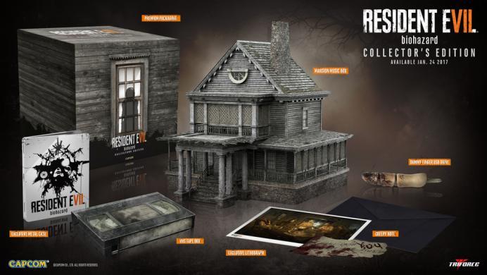 La edición de colección de Resident Evil 7 es terroríficamente hermosa