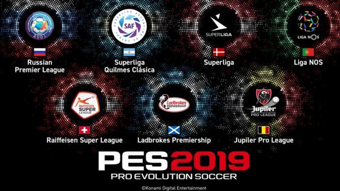 PES 2019 tendrá siete nuevas licencias de ligas que a nadie le importan