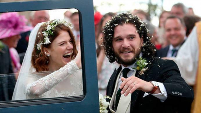 De Game of Thrones al altar: Ygritte y Jon Snow se casaron en la vida real