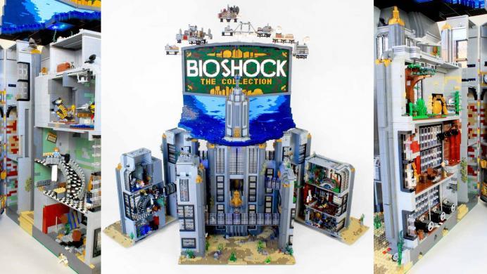 Fan de Bioshock construye Rapture con cubos de LEGO