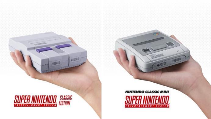 Mira en todo su esplendor las dos versiones del SNES Mini