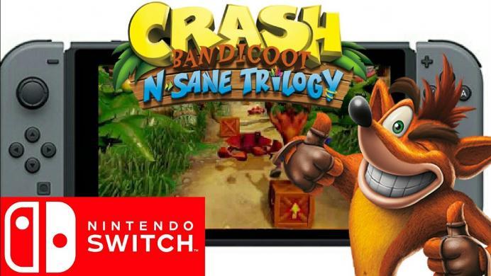 Nintendo celebra la llegada de Crash Bandicoot N'Sane Trilogy a Switch con este tráiler